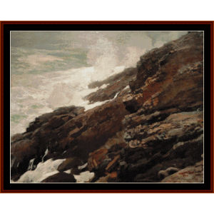 High Cliff, Coast of Maine - W. Homer cross stitch pattern by Cross Stitch Collectibles | Crafting | Cross-Stitch | Wall Hangings