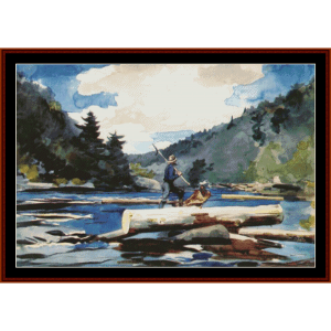 Hudson River II - W. Homer cross stitch pattern by Cross Stitch Collectibles | Crafting | Cross-Stitch | Other