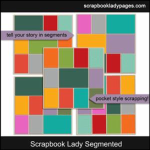 scrapbook lady segmented templates