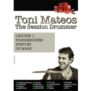 the session drummer. leccion 1. progresiones simples de mano
