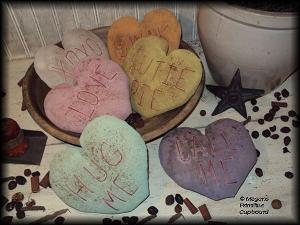 515 primitive valentine conversation hearts bowl fillers ornies pattern epattern