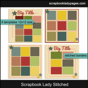 scrapbook lady stitched