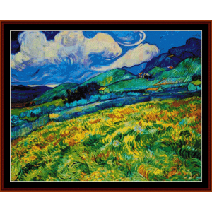 Landscape from St. Remy - Van Gogh cross stitch pattern by Cross Stitch Collectibles | Crafting | Cross-Stitch | Wall Hangings