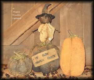 3550 extreme primitive folk art fall halloween ye old pumpkin patch pumpkins and scarecrow doll pattern epattern
