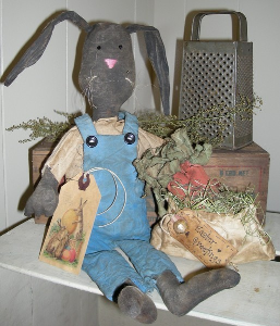 811 primitive folk art henry rabbit and his carrot bag pattern epattern