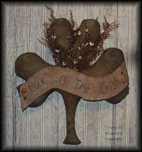 828 primitive st patricks shamrock door hanger doll pattern