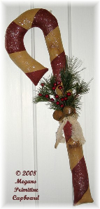 4100 winter christmas candy cane door hanger doll pattern