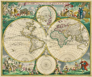 nova orbis tabula in lucem edita. 1670