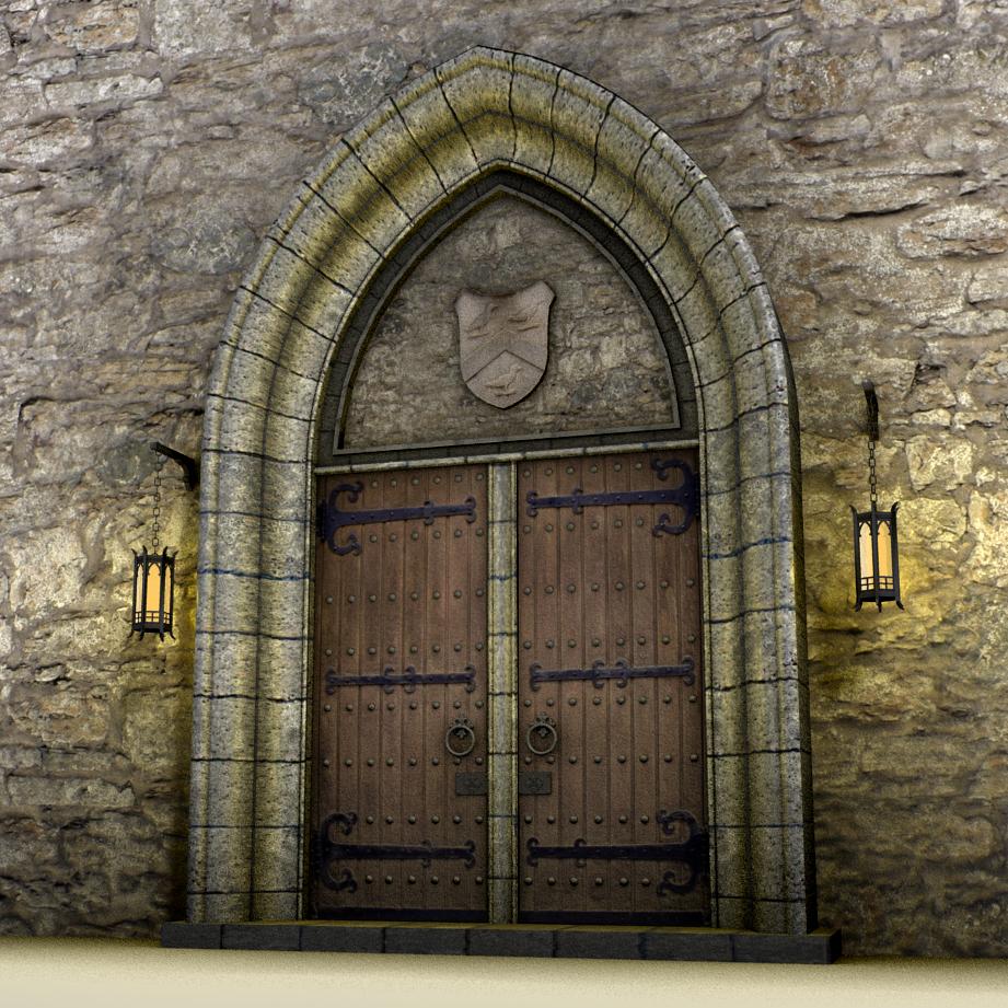 Large medieval doors 3d model other files graphics for Door 3d model