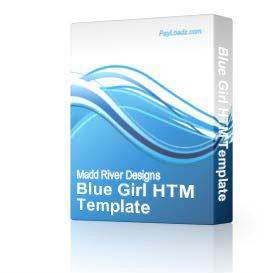 Blue Girl HTM Template | Software | Design Templates