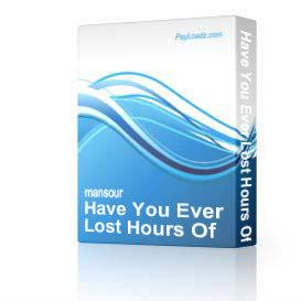 Have You Ever Lost Hours Of Hard Work | Software | Home and Desktop