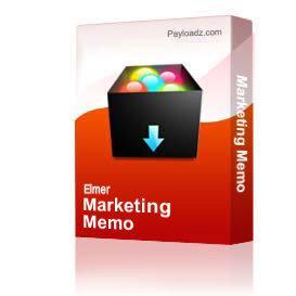 Marketing Memo | eBooks | Business and Money