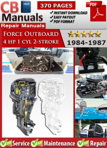 Force Outboard 4 hp 4hp 1 cyl 2-stroke 1984-1987 Service Repair Manual | eBooks | Automotive