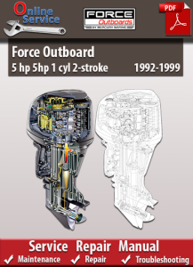 Force Outboard 5 hp 5hp 1 cyl 2-stroke 1992-1999 Service Repair Manual | eBooks | Automotive
