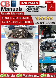 Force Outboard 15 hp 15hp 2 cyl 2-stroke 1984-1999 Service Repair Manual | eBooks | Automotive