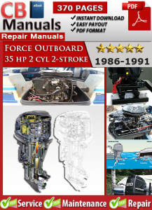 Force Outboard 35 hp 35hp 2 cyl 2-stroke 1986-1991 Service Repair Manual | eBooks | Automotive