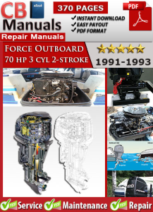 force outboard 70 hp 70hp 3 cyl 2-stroke 1991-1993 service repair manual