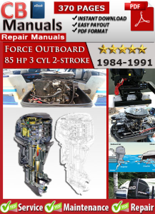 Force Outboard 85 hp 85hp 3 cyl 2-stroke 1984-1991 Service Repair Manual | eBooks | Automotive