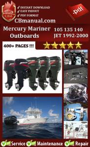 Mercury Mariner 105 135 140 JET 1992-2000 Service Repair Manual | eBooks | Automotive