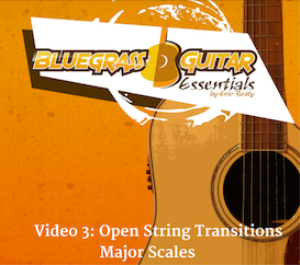 bge webisodes 5 & 6 | video 3: open string transitions & major scales