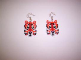 Vertical Brick Tiger Delica Seed Beading Earring Pattern | Other Files | Arts and Crafts