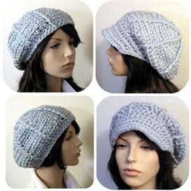 the ava hat - beret/applejack - 2 styles in 1 - crochet epattern