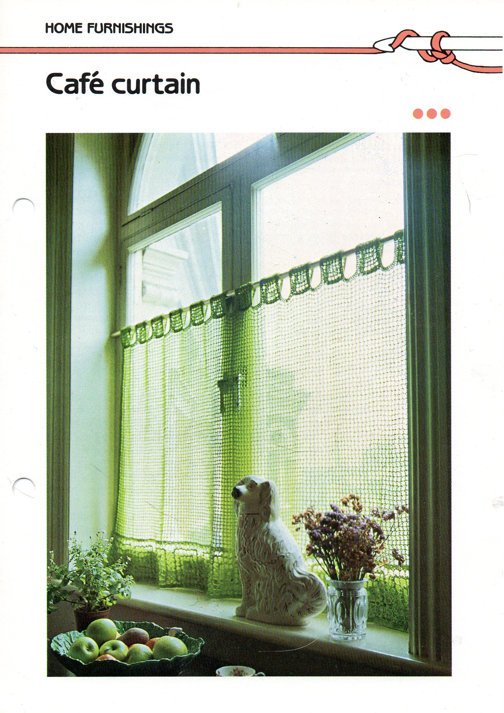 Crochet Cafe curtain | Other Files | Arts and Crafts