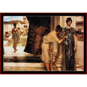 The Frigidarium - Alma Tadema cross stitch pattern by Cross Stitch Collectibles | Crafting | Cross-Stitch | Other