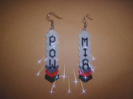 Vertical Brick Military Feather Delica Seed Beading Earring Pattern | Other Files | Arts and Crafts