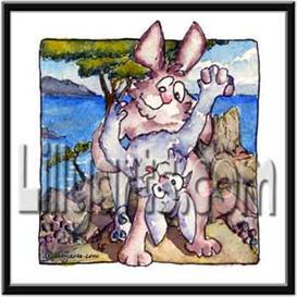 Pt. Lapin Bunny Rabbit Original Cartoon Mini Art Print | Other Files | Clip Art