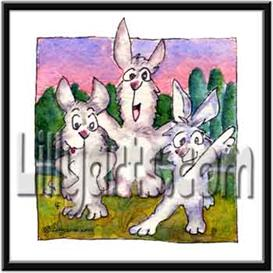 Tai Chi Bunny Rabbit Original Watercolor Mini Art Print | Other Files | Clip Art
