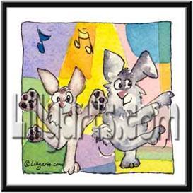 Spotlight Bunny Rabbit Original Cartoon Mini Art Print | Other Files | Clip Art