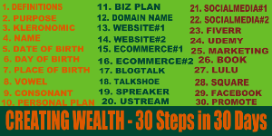 creating wealth 30 steps in 30 days home study course