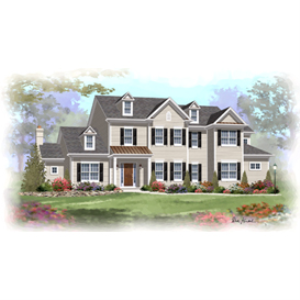 home builder's plan set - beacon hill traditional