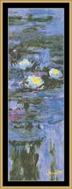 Water Lily Panel - Monet | Crafting | Cross-Stitch | Wall Hangings