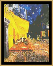 Cafe De Nuit - Van Gogh | Crafting | Cross-Stitch | Wall Hangings