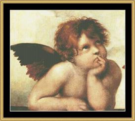 Sistine Madonna Detail -Raphel | Crafting | Cross-Stitch | Wall Hangings