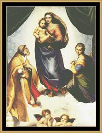 Sistine Madonna - Raphael | Crafting | Cross-Stitch | Wall Hangings