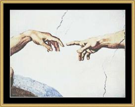 Hands Of Creation - Michelangelo | Crafting | Cross-Stitch | Wall Hangings