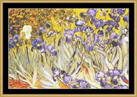 Irises  -  Van Gogh | Crafting | Cross-Stitch | Wall Hangings