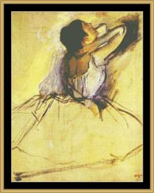 Dancer - Degas | Crafting | Cross-Stitch | Wall Hangings