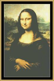 Mona Lisa - Da Vinci | Crafting | Cross-Stitch | Wall Hangings