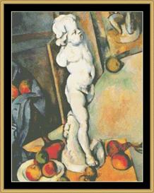 Still Life With Cupid - Cezanne | Crafting | Cross-Stitch | Wall Hangings