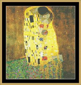 The Kiss - Klimt | Crafting | Cross-Stitch | Wall Hangings