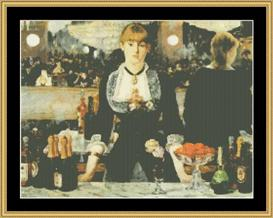 Bar At The Follies - Manet | Crafting | Cross-Stitch | Wall Hangings