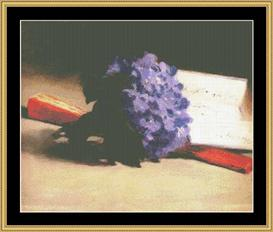 Bouquet Of Violets - Manet | Crafting | Cross-Stitch | Wall Hangings