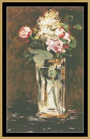 Flowers In Crystal Vase - Manet | Crafting | Cross-Stitch | Wall Hangings