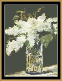 Lilac In Vase - Manet | Crafting | Cross-Stitch | Wall Hangings