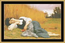 Rest At Harvest - Bouguerreau | Crafting | Cross-Stitch | Wall Hangings