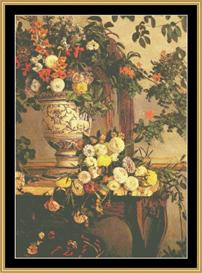 Flowers - Bazille | Crafting | Cross-Stitch | Wall Hangings